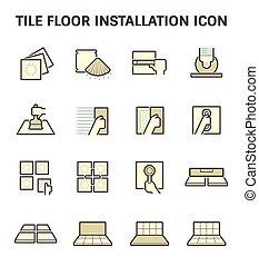 pavimentare pavimento, icona