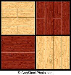 pavimentazione, legno duro, pattern., seamless, vettore, parquet