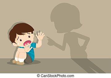 pavimento, arrabbiato, bambino, donne bisbetiche, madre,...