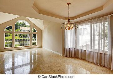 pavimento, casa, moderno, interno, piastrella, marmo, vuoto