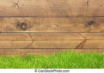 pavimento, con, erba