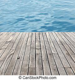 pavimento legno, e, mare