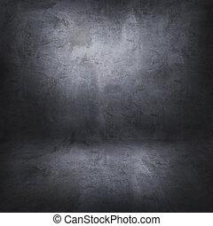 pavimento, parete, concreto