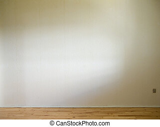 pavimento, parete, legno, luce giorno, bianco, lato