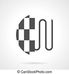 pavimento, riscaldamento, vettore, disegno, sotto, piastrella, nero, icona