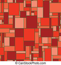 pavimento, -, seamless, struttura, vettore, rosso