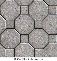 Gray Square and Octagon Pavements. Seamless Tileable Texture.