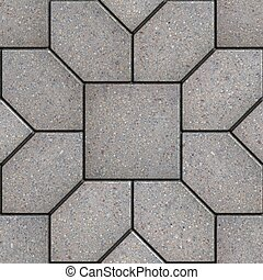 Paving Slabs. Seamless Tileable Texture. - Gray Pavement in...