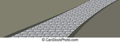 Paving stone. Background. Vector illustration
