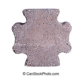 paving stone - Paving stone isolated on a white background.