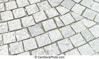 Paving stone texture. Stones of gray color. History at our...