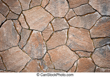 Paving stones for terrace construction - Background from ...