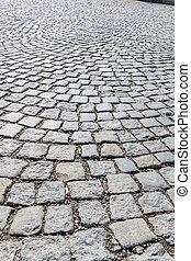 paving stones in pedestrian area - paving stones in ...