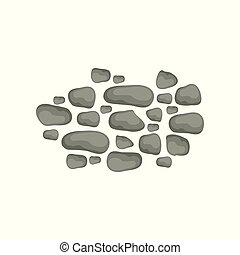 Paving stones, landscape design element, pathway cover, top view vector Illustration on a white background