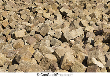 paving stones lying in the street