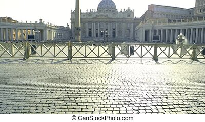 Paving stones, Saint Peter square. Pavement and sunlight....