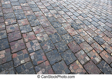 paving tiles, close-up