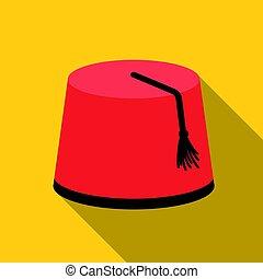 pavo, estilo, illustration., símbolo, aislado, flate,...