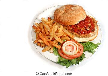 pavo, hamburguesa