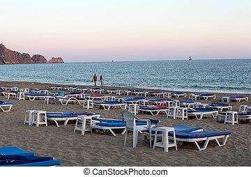 pavo, playa., más, cleopatra, playa, -, uno, tarde,...