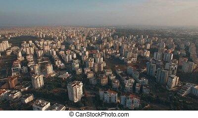 pavo, residencial, encima, vuelo, urbanizado, casas, antalya...