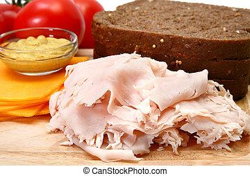 pavo, sandwhich, ingredientes