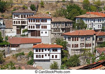 pavo, tradicional, safranbolu, otomano, casas