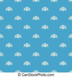 pavone blu, modello, seamless, coda, fluente