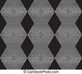 pavučina, zlatý hřeb, rhombs, seamless, hite, grafické pozadí, čerň, texture.