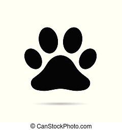 paw black icon