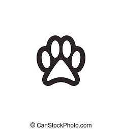 Paw clip art design vector isolated