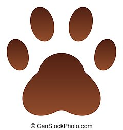 Paw flat icon. Pad color icons in trendy flat style. Foot gradient style design, designed for web and app. Eps 10.