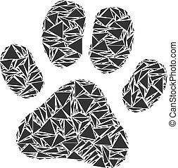 Paw Footprint Collage of Triangles
