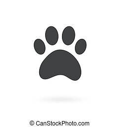 paw icon on the background , vector