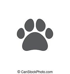 Paw icon on white background