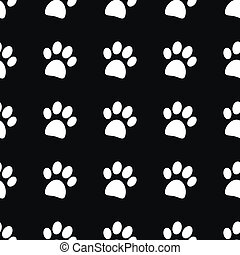 Paw icon seamless pattern