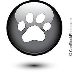 Paw on black