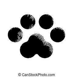 Paw print animal