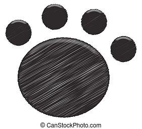 Paw Print Black