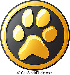 paw print button (icon)