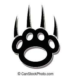 Paw Print-Claws