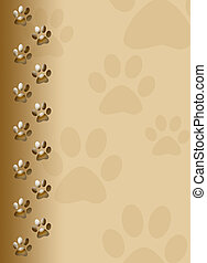 Paw print, cute brown cat paw prints