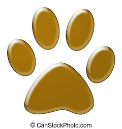Paw print - Cute dog or cat paw print