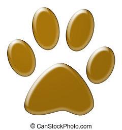 Paw print - Cute dog or cat paw print