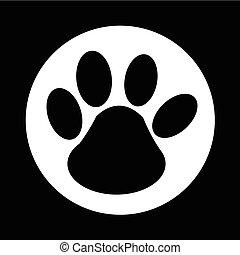paw print icon illustration design