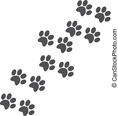 Paw print on a white background. Vector illustration EPS10
