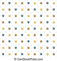 Paw Wallpaper Decorative Colourful Animal Print Clipart