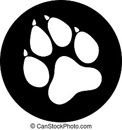 Paw Prints flat design