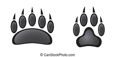 paw prints in black and white