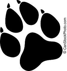 Paw Prints. Logo